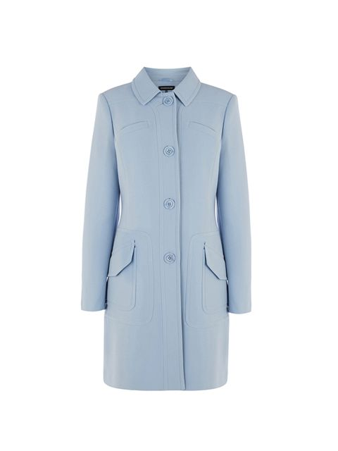 """<p><a href=""""http://www.warehouse.co.uk/princess-coat/new/warehouse/fcp-product/02255431"""" target=""""_blank"""">Warehouse</a> pastel coat, £95</p>"""