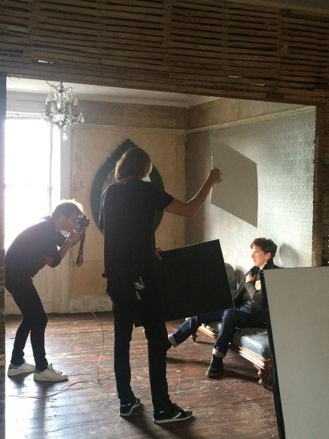 Marc Hom photographing  Benedict.