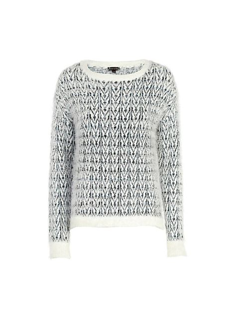 "<p><a href=""http://www.riverisland.com/women/sale/knitwear/Cream-chevron-pattern-eyelash-knit-jumper-643585"" target=""_blank"">River Island</a> jumper, £20</p>"