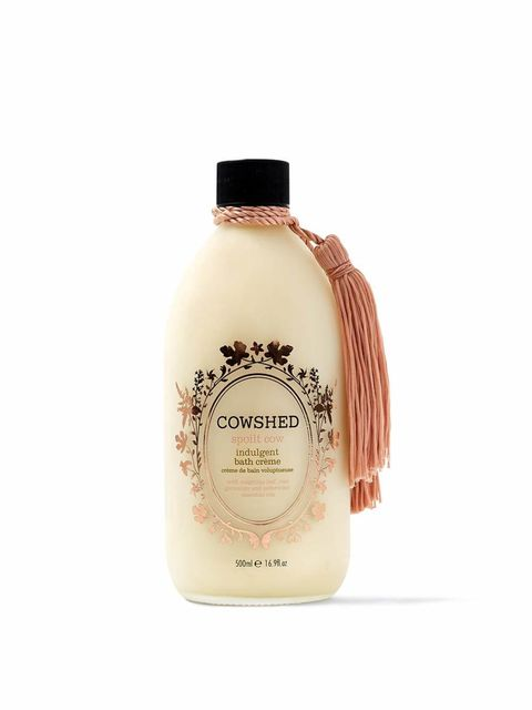 "<p><a href=""http://www.cowshedonline.com"" target=""_blank"">Cowshed Spoilt Cow Bath Creme, £36 </a></p>  <p>Cowshed have brought back their original glass bottle to house this lovely little treat. Give in to cold winter evenings with some at home pampering;"