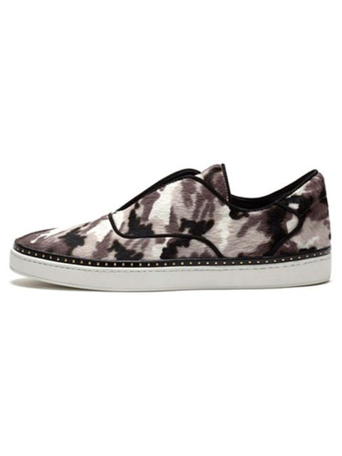 """<p><a href=""""http://www.mulberry.com/shop/shoes/sneakers/mulberry-slip-on-sneaker-black-white-camouflage-haircalf"""" target=""""_blank"""">Mulberry</a> trainers £590</p>"""