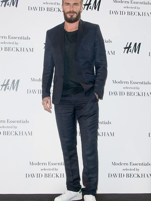 David Beckham presents his H&M 'Modern Essentials' Campaign in Madrid, March 2015.