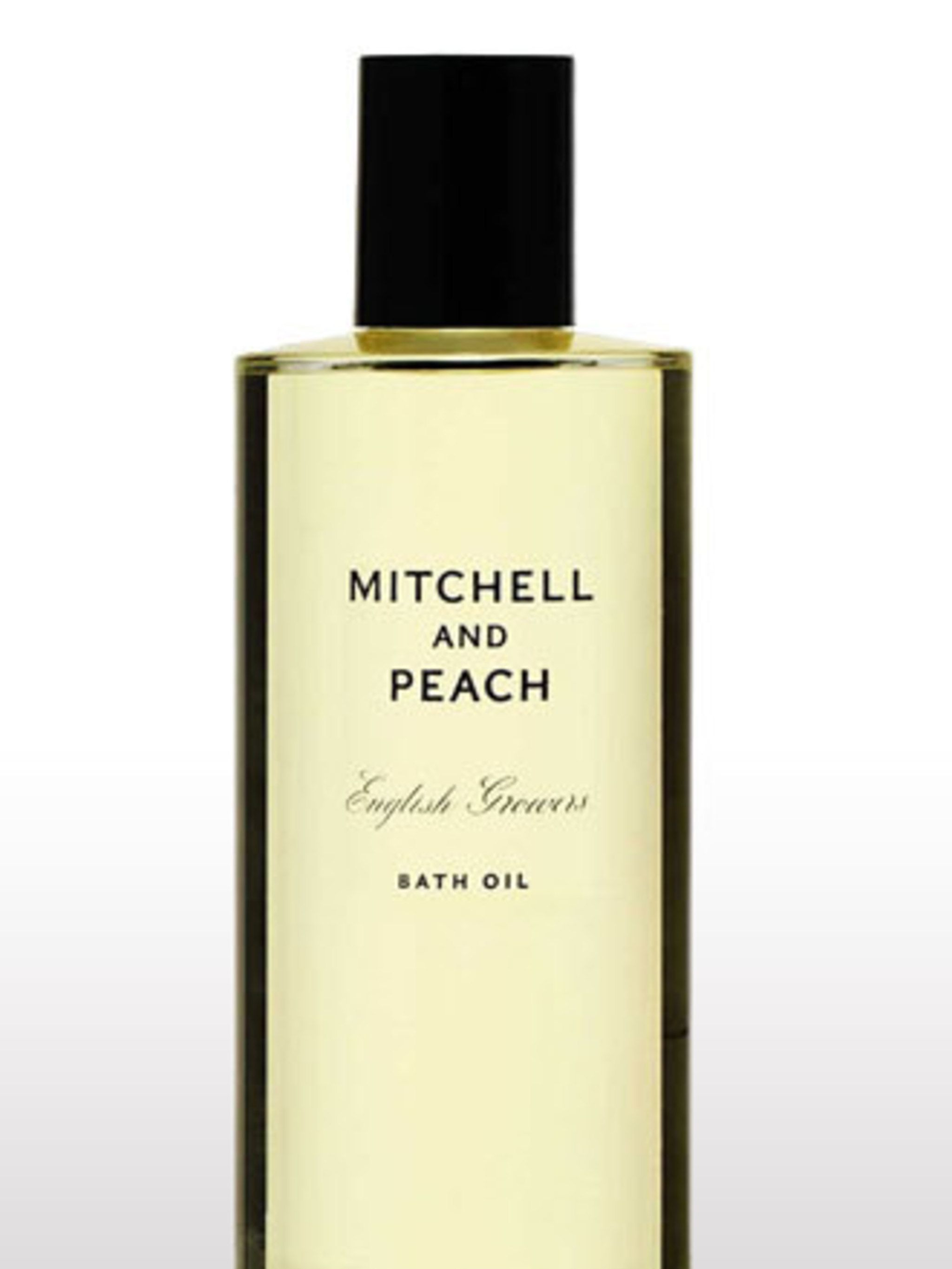 "<p><a href=""http://www.mitchellandpeach.com/collection/bath-oil/products_id/1/cPath/0"">Mitchell and Peach</a>, Bath Oil, £39</p>"