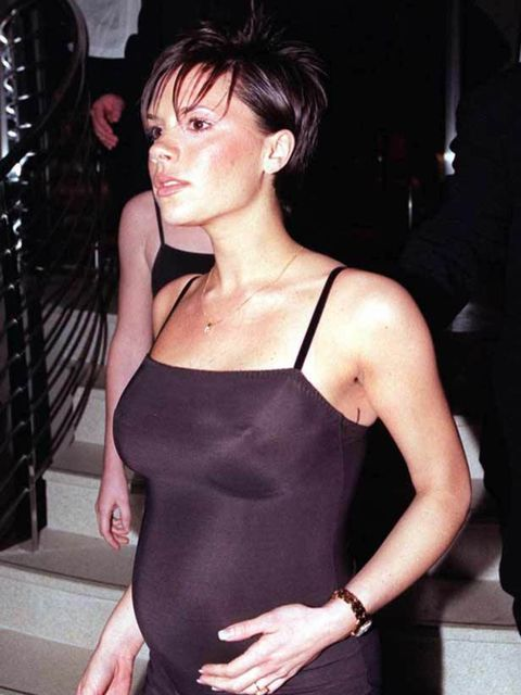 "<p><a href=""http://www.elleuk.com/catwalk/collections/victoria-beckham/spring-summer-2011/review"">Victoria Beckham</a> pregnant with first son Brooklyn, December 1998</p>"