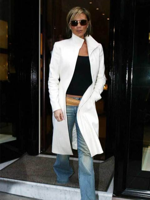 "<p><a href=""http://www.elleuk.com/catwalk/collections/victoria-beckham/spring-summer-2011/review"">Victoria Beckham</a> with David during her first pregnancy, 1998</p>"