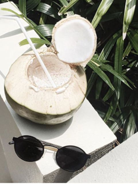 <p><strong>The Classic Coconut Shot </strong></p>  <p>Ditch the Vitacoco and grab a real coconut, position some sunnies accidentally nearby. #refreshed</p>  <p>Picture: @charliemay</p>