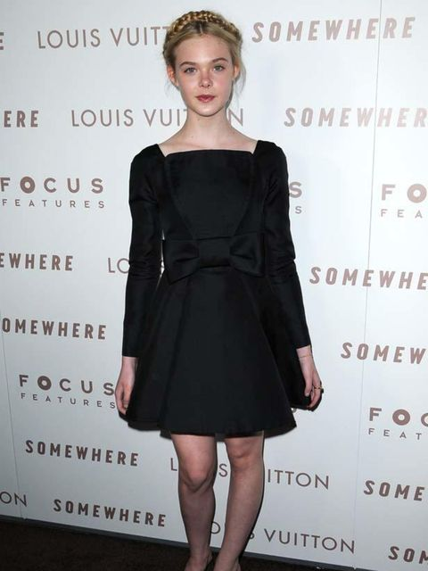 "<p>Elle Fanning in <a href=""http://www.elleuk.com/catwalk/collections/valentino/spring-summer-2011/collection"">Valentino</a> Couture at the 'Somewhere' premiere in Los Angeles, 8 December 2010</p>"