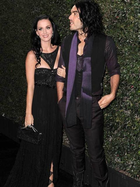 """<p>Katy Perry in <a href=""""http://www.elleuk.com/catwalk/collections/badgley-mischka/spring-summer-2011/collection"""">Badgley Mischka</a> at the American Music Awards in Los Angeles, 21 November 2010</p>"""