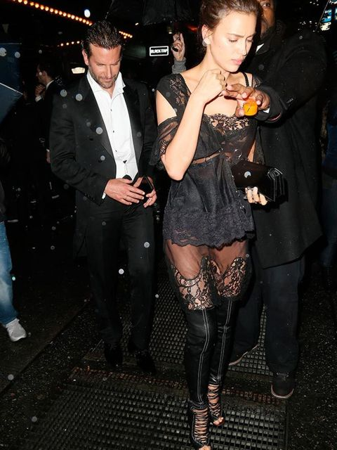 <p>Bradley Cooper and Irinia Shayk attend a Met Gala 2016 after party at the Boom Boom Room at The Standard in New York, May 2016.</p>