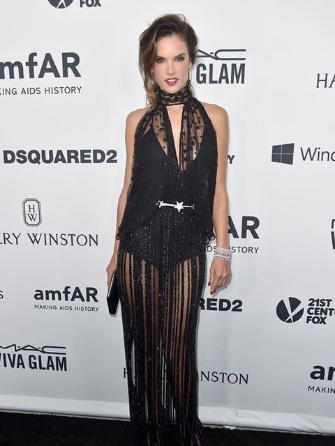<p>Alessandra Ambrosio in Zuhair Murad's AW15 Couture collection</p>
