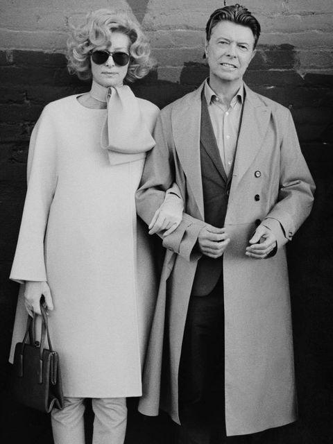 <p>David Bowie and Tilda Swinton</p>