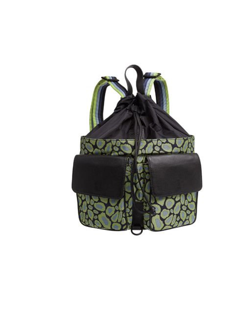 "<p><a href=""http://www.elleuk.com/catwalk/designer-a-z/kenzo/autumn-winter-2013"">Kenzo</a> black and green cloudy leopard print backpack £310 at <a href=""http://www.liberty.co.uk/fcp/product/Liberty//Black-and-Green-Leopard-Print-Backpack/87176"">Liberty.c"