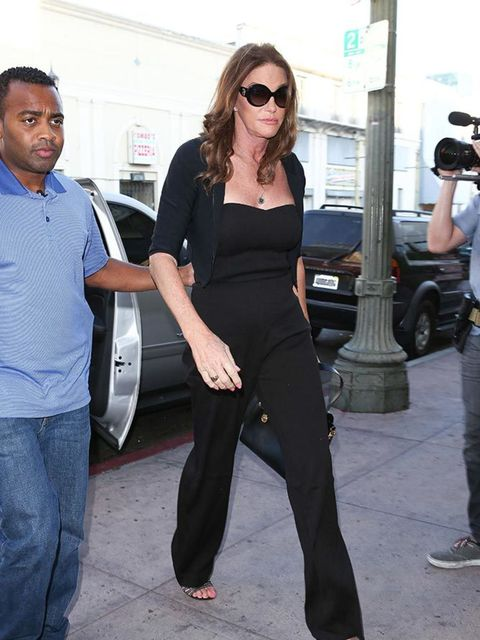 Caitlyn Jenner heads to meet Kris Jenner for the first time as herself in LA, July 2015.