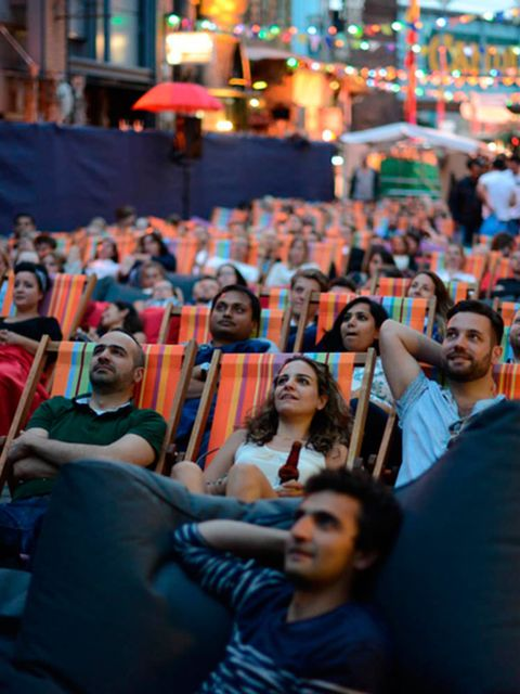 <p>FILM: Backyard Cinema Film Festival</p>  <p>Step away from the multiplex, people. Because why sit inside in the dark when you can watch classic films such as Whiplash, Grease and Clueless under the stars, amid the colourful surrounds of Camden Market?