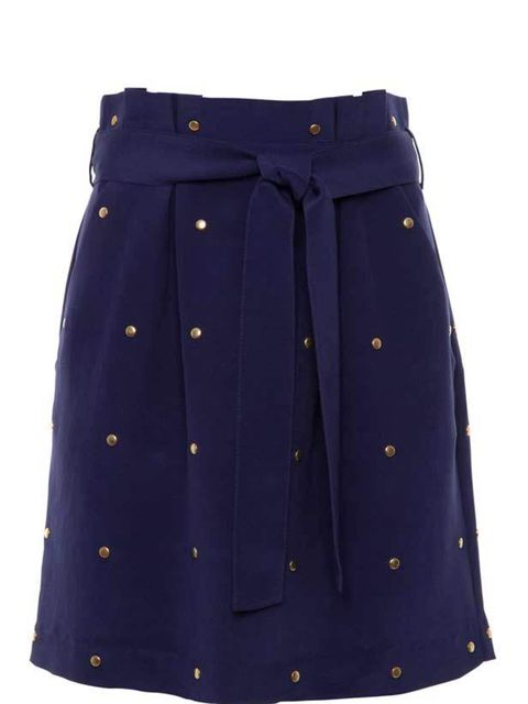 "<p>We instantly fell for this studded skirt thanks to its cobalt blue silk and gold studding. A super pretty mini with just enough rock'n'roll edge. Alice by Temperley studded skirt, £165, at <a href=""http://shop.harveynichols.com/fcp/product/-/Skirts/Wil"