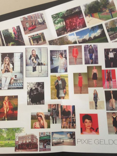 <p>The mood board for ELLE's August 2013 London fashion cover shoot.</p>