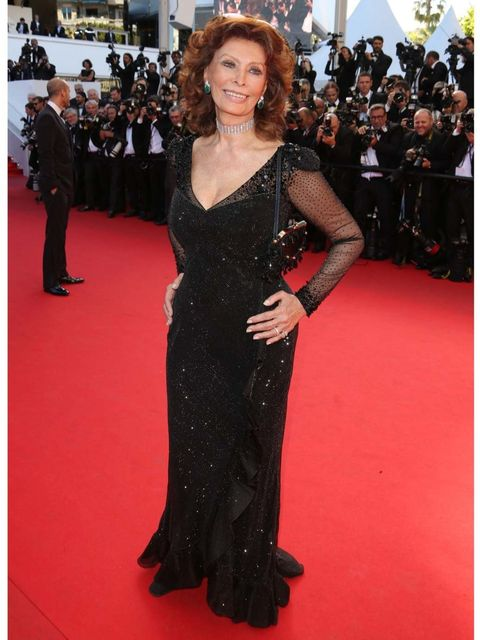 <p>Sophia Loren at the Closing Ceremony and <em>A Fistful of Dollars</em> screening during the 67th Annual Cannes Film Festival.</p>