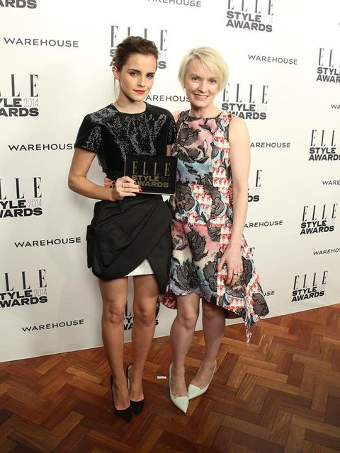 <p>Actress of the Year:</p><p>Emma Watson, with presenter and ELLE Editor-in-Chief Lorraine Candy</p>