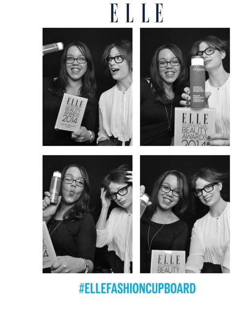<p>Ally Daniel, PR Manager at Clarins with ELLE Beauty Director Sophie Beresiner</p>