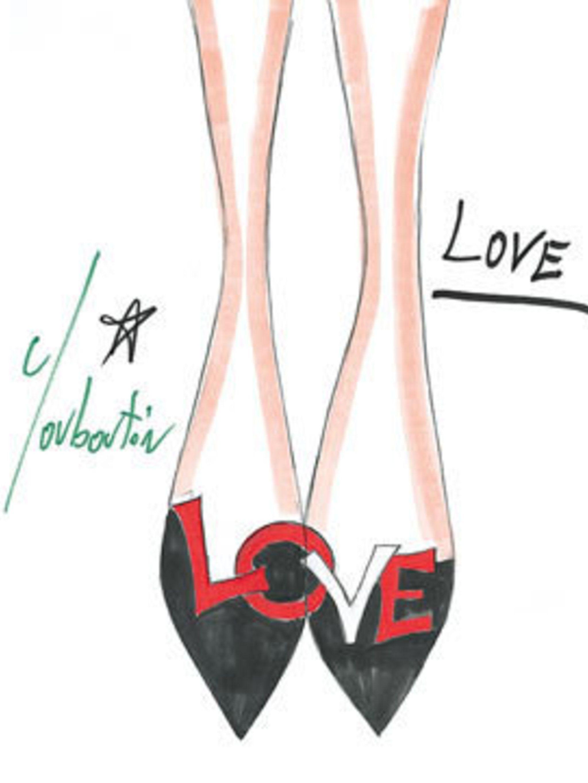 <p>Christian Louboutin's Love shoes.</p>