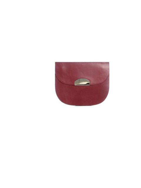 "<p>Maison Martin Margiela half moon clutch, £818, Available from <a href=""http://www.matchesfashion.com/product/130432"">Matches Fashion</a></p>"