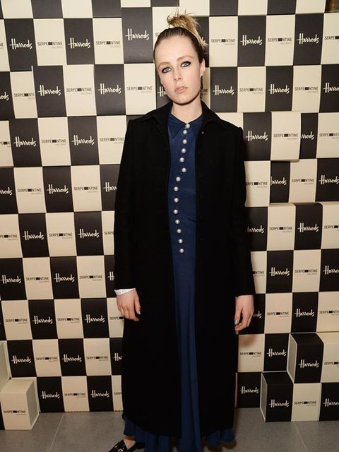 Edie Campbell attends the Serpentine Gallery and Harrods Future Contemporaries during London Fashion Week AW16