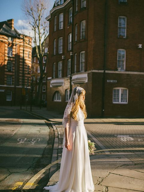 <p>My Mum burst into tears when I first tried my wedding dress on, so there was no way of turning back after that!</p>