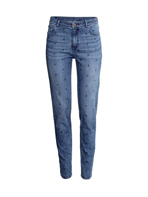 """<p>Denim with a difference.</p>  <p><a href=""""http://www.hm.com/gb/product/43134?article=43134-C"""" target=""""_blank"""">H&M</a> jeans, £29.99</p>"""