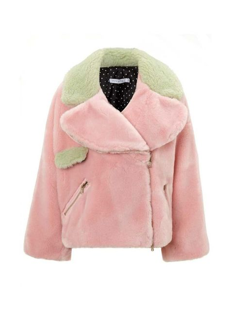 "<p>Vivetta jacket, £640 at <a href=""http://www.avenue32.com/pink-faux-fur-pippa-jacket-63101/"" target=""_blank"">Avenue32</a></p>"