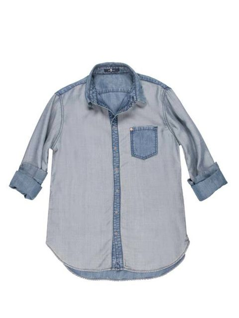 <p>The UK festival season is about to kick off, and from what we spotted at Primavera and Coachella, it's all about open denim shirts and espadrilles… 7 For All Mankind denim shirt, £145, for stockists call 0207 734 8062</p>