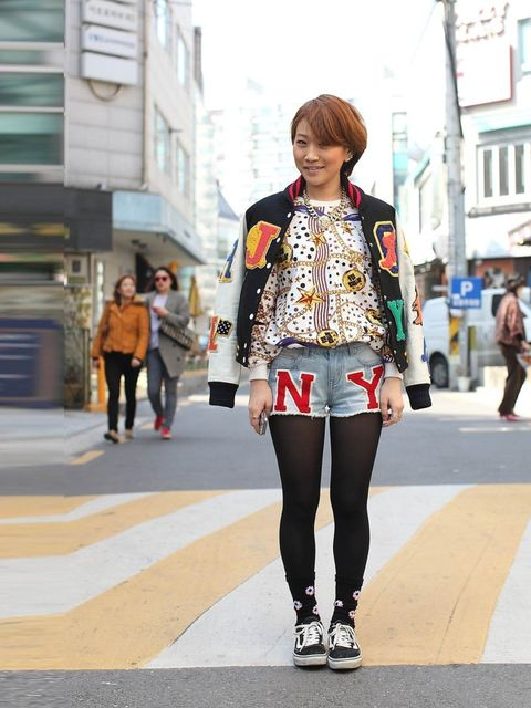 "<p>Effy wears Joyrich top, shorts & jacket with Vans trainers.</p><p><em>More street style inspiration:</em></p><p><a href=""http://www.elleuk.com/style/street-style/seoul-fashion-week-autumn-winter-2013"">Seoul Fashion Week street style</a></p><p><a hr"