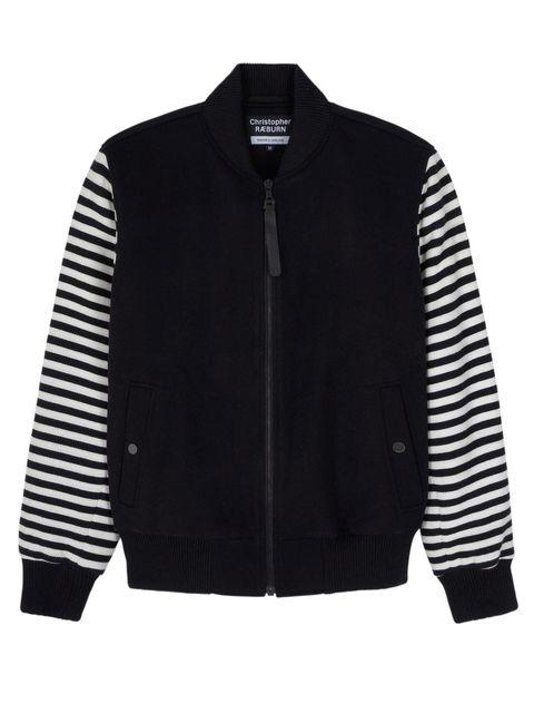 <p>Christopher Raeburn Unisex Wool School jumper, £395, available at Harvey Nichols</p>