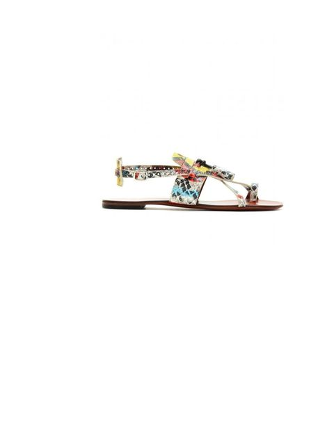 "<p>Proenza Schouler snake printed sandals, £414, at <a href=""http://www.mytheresa.com/uk_en/snake-printed-leather-sandals.html"">mytheresa.com</a></p>"