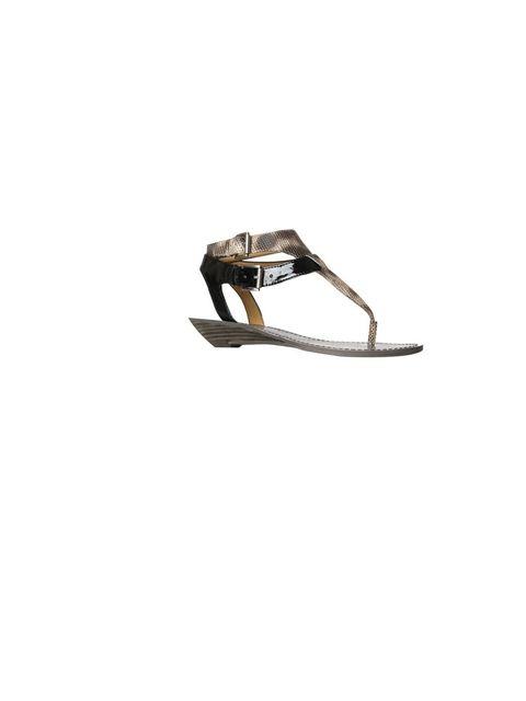 "<p><a href=""http://www.ninewest.co.uk/sandals/flat/reminder.html"">Nine West</a> 'Reminder' sandals, £85</p>"