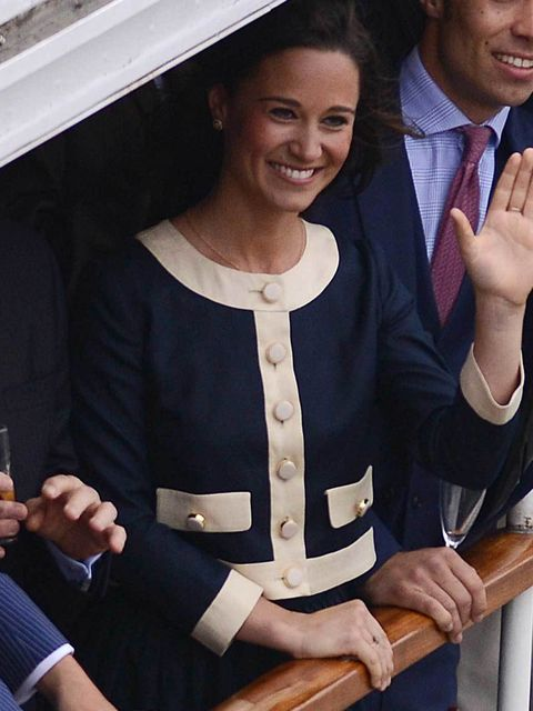 """<p><a href=""""http://www.elleuk.com/star-style/celebrity-style-files/pippa-middleton"""">Pippa Middleton</a> in Orla Kiely on the Royal Jubilee flotilla during The Queen's Diamond Jubilee celebrations</p>"""