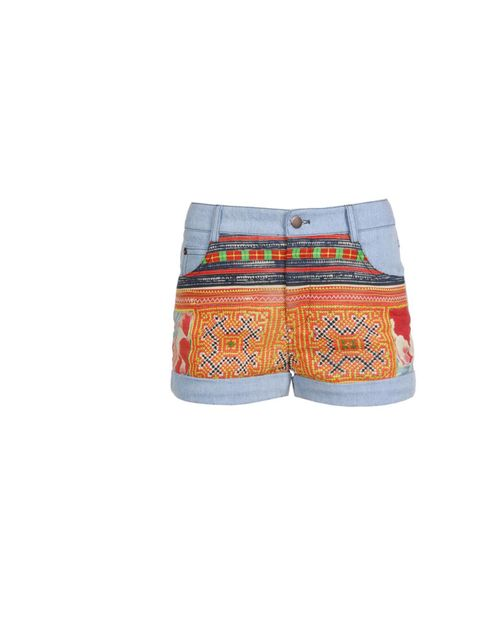 """<p>Thu Thu embroidered denim shorts, £245, at Browns</p><p><a href=""""http://shopping.elleuk.com/browse?fts=thu+thu+denim+shorts"""">BUY NOW</a></p>"""