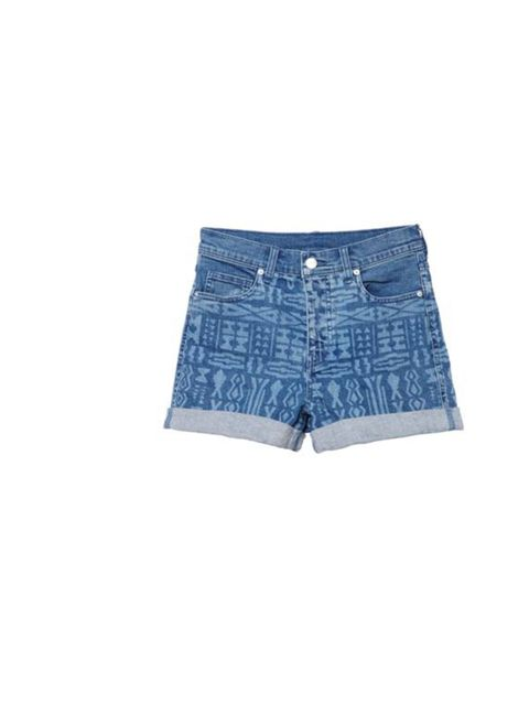 "<p><a href=""http://www.monki.com/Shop/Denim/Lanelle_shorts/65003-1266604.1"">Monki</a> inca print denim shorts, £20</p>"