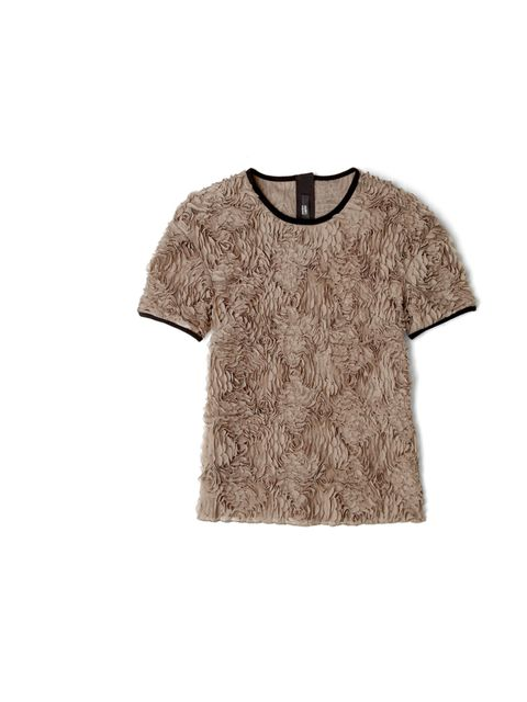 "<p>Girliness goes modern with laser cut flower T-shirt… Markus Lupfer textured T-shirt, £187, at My-Wardrobe.com</p><p><a href=""http://shopping.elleuk.com/browse?fts=markus+lupfer+lazer-cut+t-shirt"">BUY NOW</a></p>"