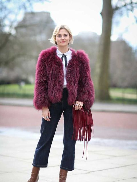 <p>Pandora Sykes</p>  <p>Gap shirt, Hobbs jeans, Sandro bag and Gucci boots.</p>