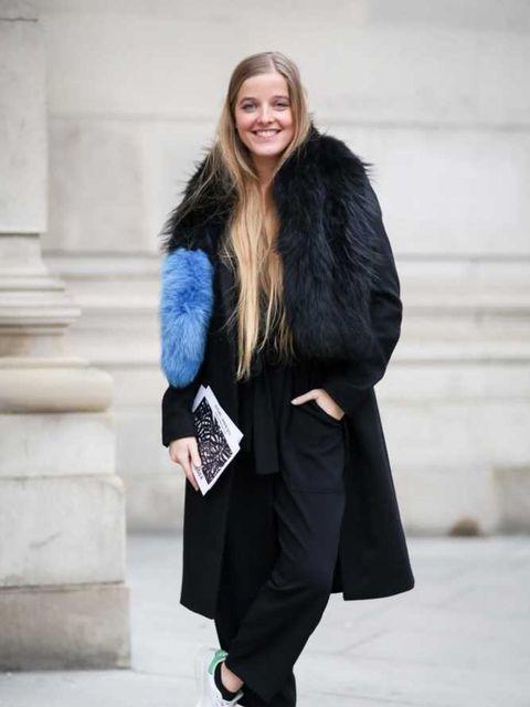<p>Charlotte Simone</p><p>Charlotte Simone popsicle scarf, Zara playsuit, AllSaints jacket, Stan Smiths trainers.</p>