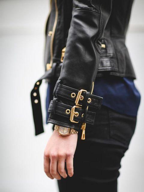 <p>Lotte Jeffs, Deputy Editor, H&M x Balmain biker jacket, £199</p>