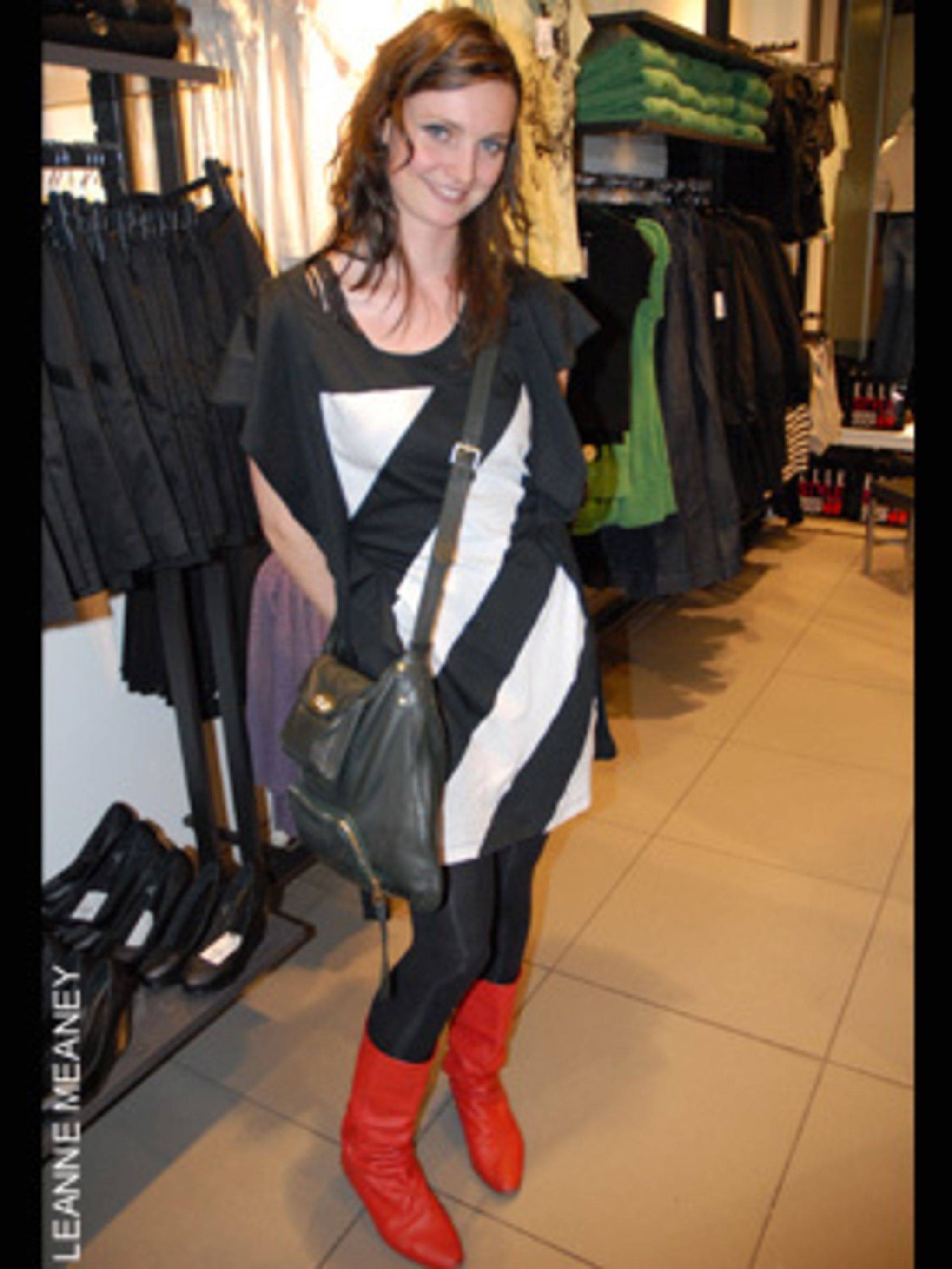 <p><strong>Laura, 25, from London</strong><strong>Works in PR</strong><strong>Style icon - Courtney Love (pre plastic surgery)</strong>Dress - Eley KishimotoBoots - OfficeBag - Mulberry</p>