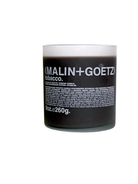 "<p><strong><6 MONTHS</strong></p><p><strong> </strong>Malin + Goetz Tobacco candle available from <a href=""http://www.liberty.co.uk"">Liberty</a></p><p><em>A tobacco scented candle? We're not sure why, but it just works...</em></p>"