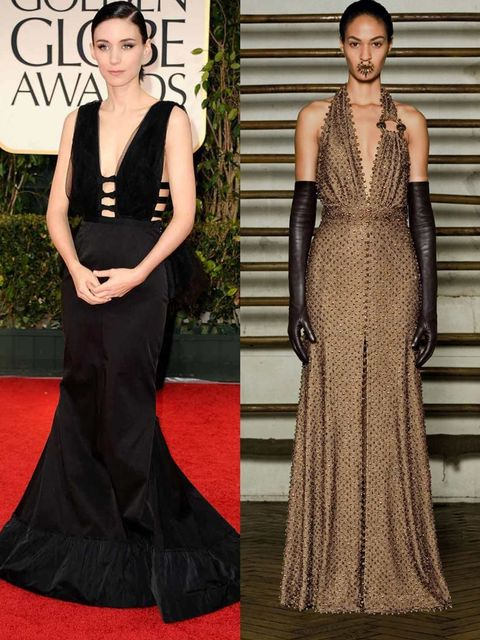 <p>Rooney Mara in Nina Ricci at the Golden Globes, and a Givenchy couture design.</p>