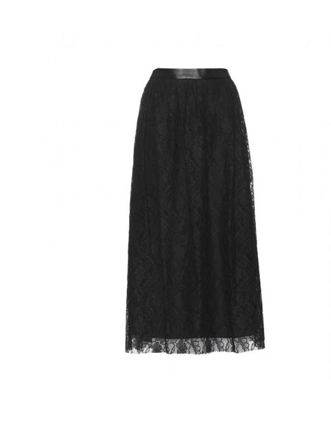 "<p>Mulberry lace below-the-knee skirt, £450, at <a href=""http://www.mytheresa.com/uk_en/skirt-with-lace-and-leather-detail.html"">mytheresa.com</a></p>"