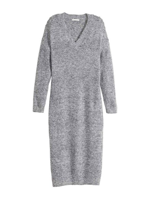 "<p><a href=""http://www2.hm.com/en_gb/productpage.0364712001.html"" target=""_blank"">H&M</a> knitted dress, £29.99</p>"