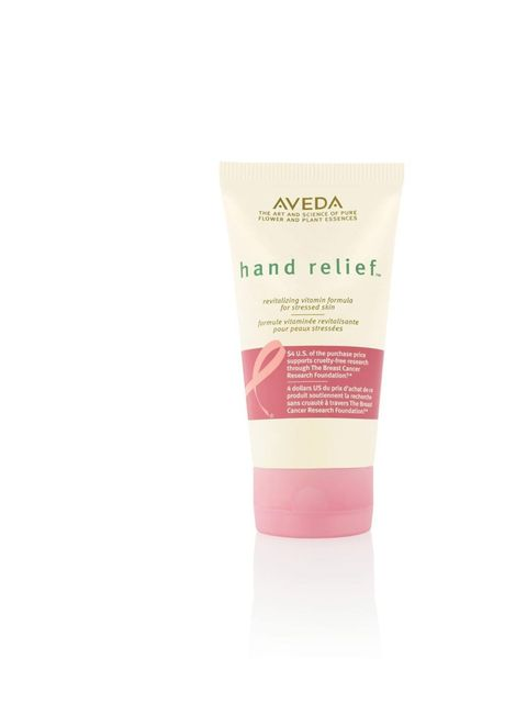 "<p><a href=""http://www.aveda.co.uk/product/7527/17127/Collections/hand-relief/BCA-Hand-Relief/index.tmpl"">Aveda</a> Hand Relief, £19 with £2 donated to <a href=""http://www.bcrfcure.org/"">The Breast Cancer Research Foundation</a></p>"