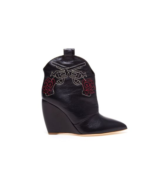 "<p>Rupert Sanderson wedge cowboy boots, £695, at Browns</p><p><a href=""http://shopping.elleuk.com/browse?fts=rupert+sanderson+wedge+boots"">BUY NOW</a></p>"