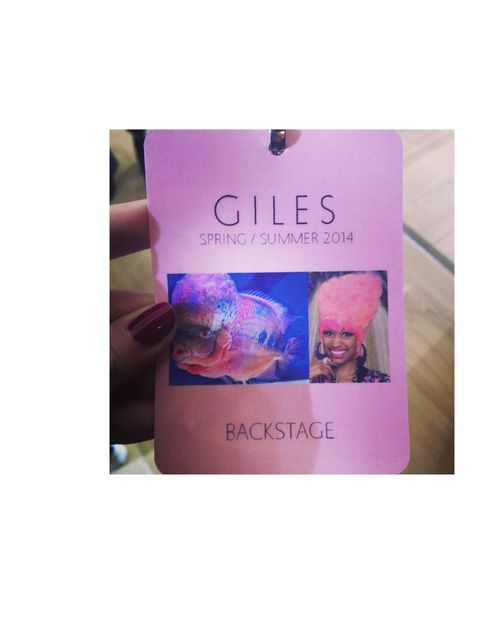 <p>Backstage passes at Giles - brilliant. Nicki Mianj's look-a-like</p>