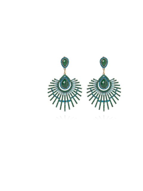 "<p>These will ramp up any simple outfit.</p><p><a href=""http://www.riverisland.com/women/jewellery/earrings/Green-and-blue-jeweled-peacock-earrings-640730"">River Island</a> Blue Green Peacock Earrings £15</p>"